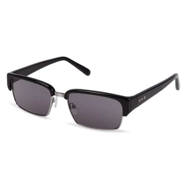 Cynthia Rowley Eyewear CR6004_sun No. 68 Black Rectangle Metal Sunglasses