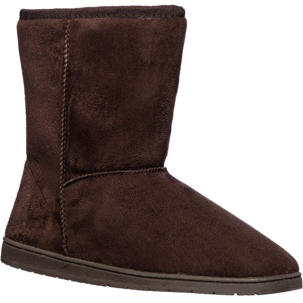Dawgs Women's Microfiber 9-inch Cozy Boots Size 10 in Plum (As Is Item)