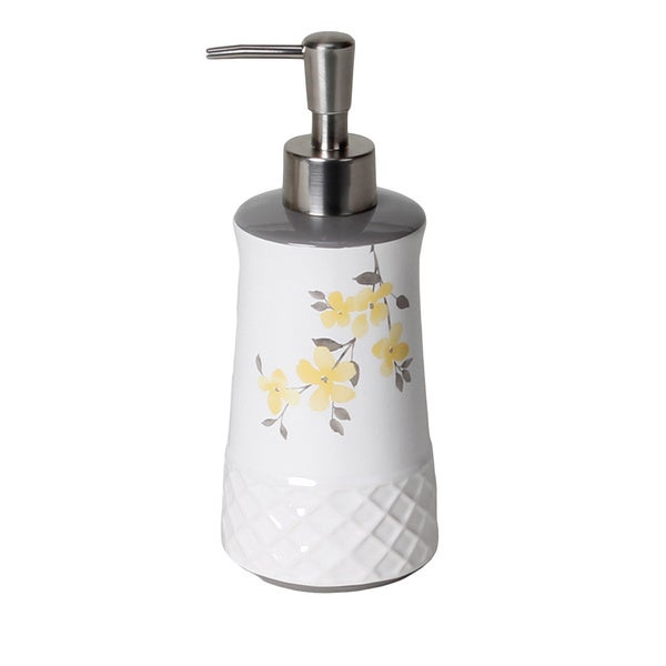 Spring Garden Floral Handcrafted Lotion/Soap Dispenser