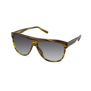 Cynthia Rowley Eyewear CR 6019S No. 15 Olive Stripe Aviator Plastic Sunglasses