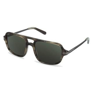 Cynthia Rowley Eyewear CR6000_sun No.97 Green Horn Aviator Plastic Sunglasses