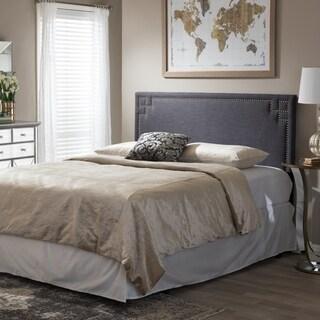 Baxton Studio Georgios Modern Contemporary Dark Grey Fabric Upholstered Headboard