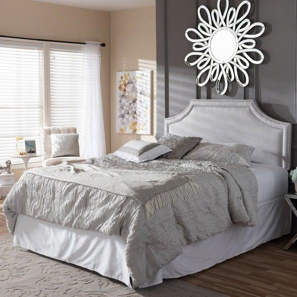 Baxton Studio Aison Modern Contemporary Greyish Beige Fabric Upholstered Headboard