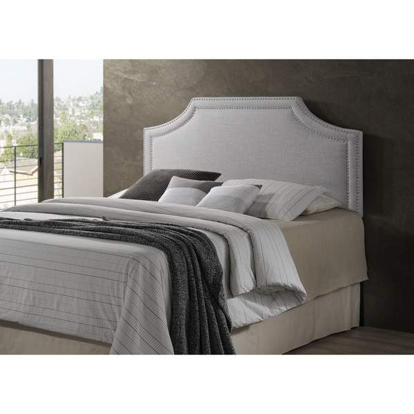 Baxton Studio Aison Modern Contemporary Greyish Beige Fabric Upholstered Headboard