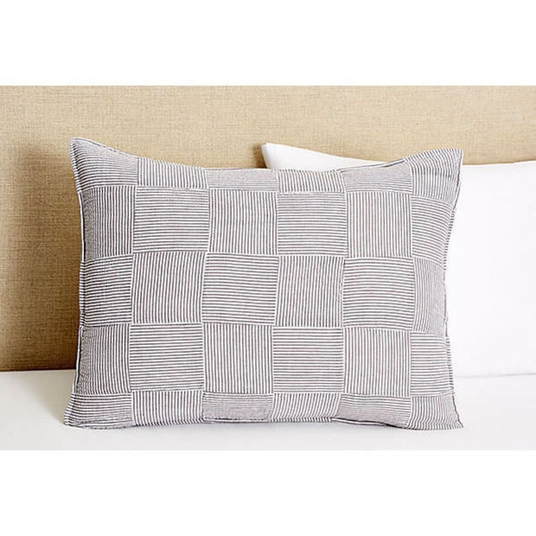 Iden Grey Cotton Striped Sham