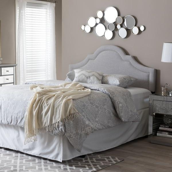 Baxton Studio Rhea Modern Contemporary Greyish Beige Fabric Upholstered Headboard
