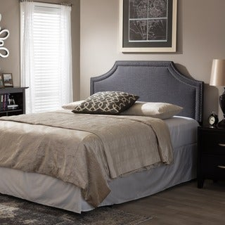 Baxton Studio Aison Modern Contemporary Dark Grey Fabric Upholstered Headboard