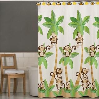 Playful Monkeys PEVA Shower Curtain and 12-piece Hooks Set or Separates