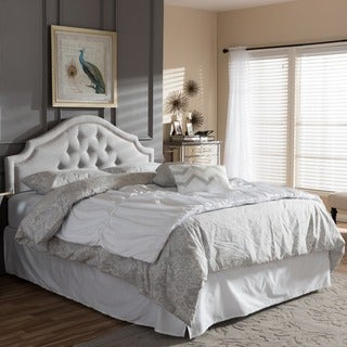 Baxton Studio Chara Modern Contemporary Greyish Beige Fabric Upholstered Headboard