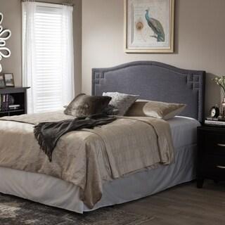 Baxton Studio Agathe Modern Contemporary Dark Grey Fabric Upholstered Headboard