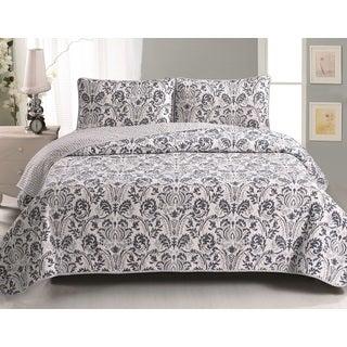 Home Fashion Designs Martinique 3-Piece Printed Quilt Set with Shams