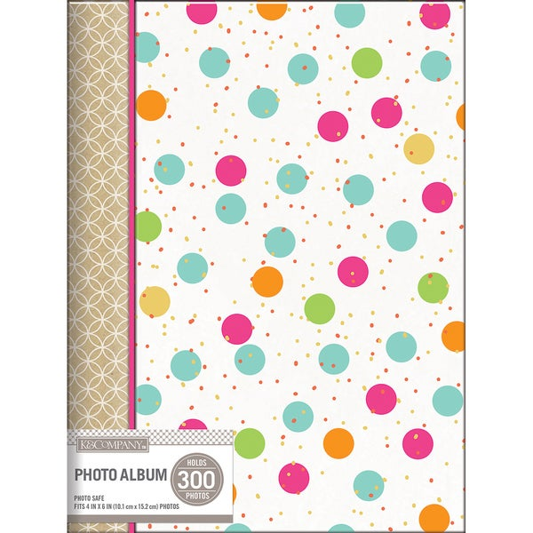 K&Company 3 Up Spiral Memo Photo Album Multi Dot