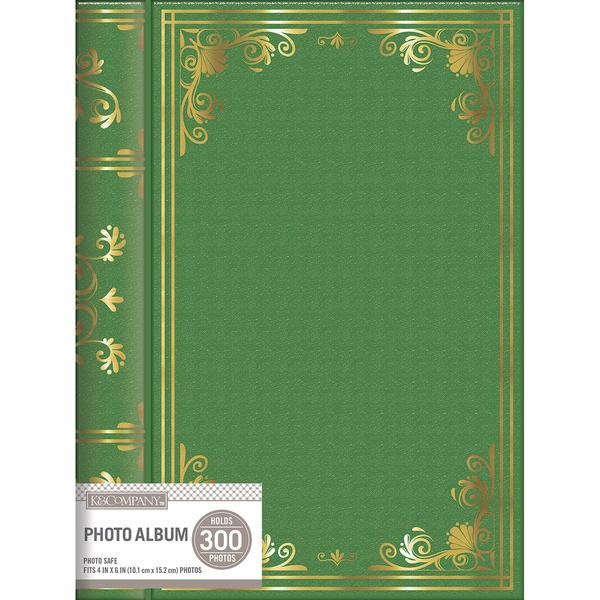 K&Company 3 Up Spiral Memo Photo Album Green