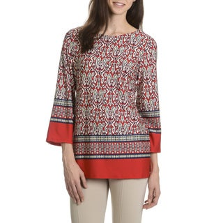 Sunny Leigh Women's Printed Tunic Top