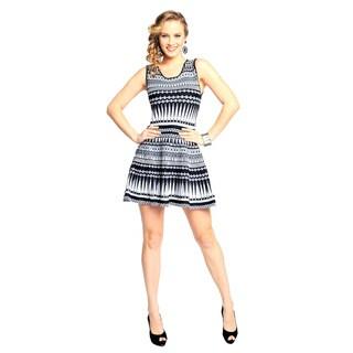 Sara Boo Women's Black and White Skater Dress