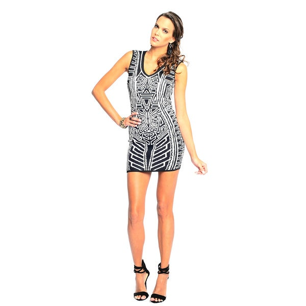 Sara Boo Women's Geometric Print Bodycon Dress