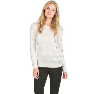 Ply Cashmere Women's Foil Skull Print Cashmere Sweater