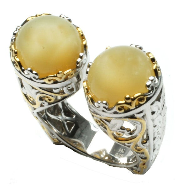 One-of-a-kind Michael Valitutti Yellow Opal Ring