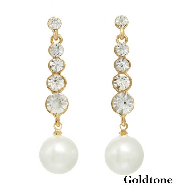 Alexa Starr Stone Stick Pearl Drop Earrings (11-12mm)