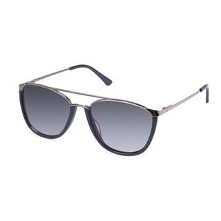 Cynthia Rowley Eyewear CR 6022S No. 76 Navy Aviator Metal Sunglasses
