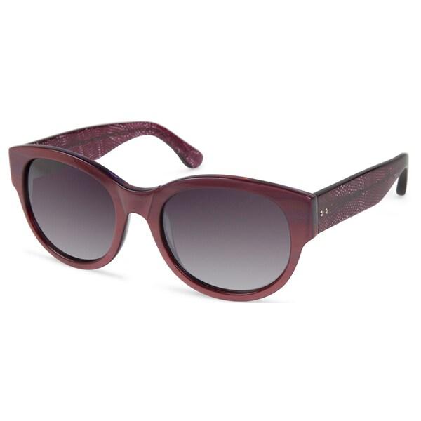 Cynthia Rowley Eyewear CR5021 No. 59 Red Round Plastic Sunglasses
