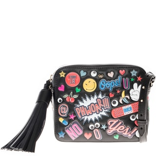 Anya Hindmarch All Over Embossed Stickers Crossbody Bag