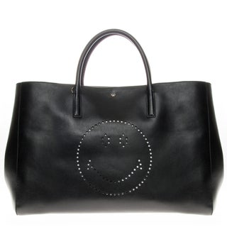 Anya Hindmarch Smiley Maxi Featherweight Ebury Tote