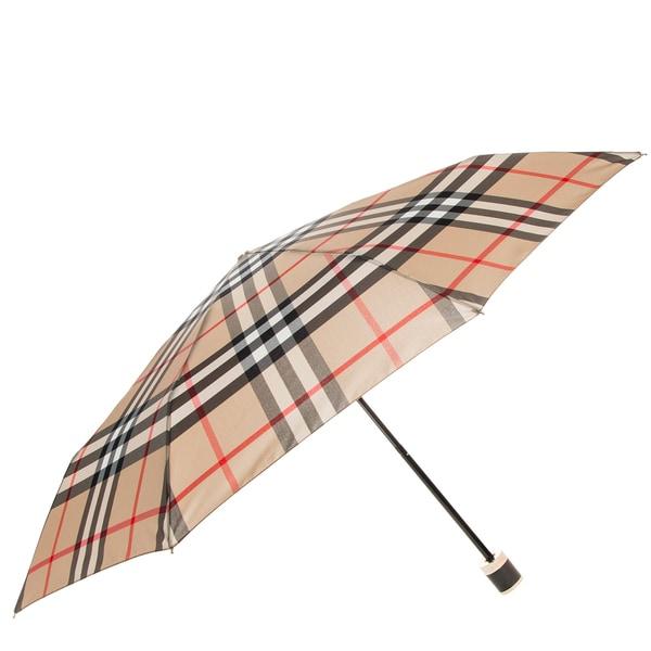 Burberry Camel Check Folding Umbrella