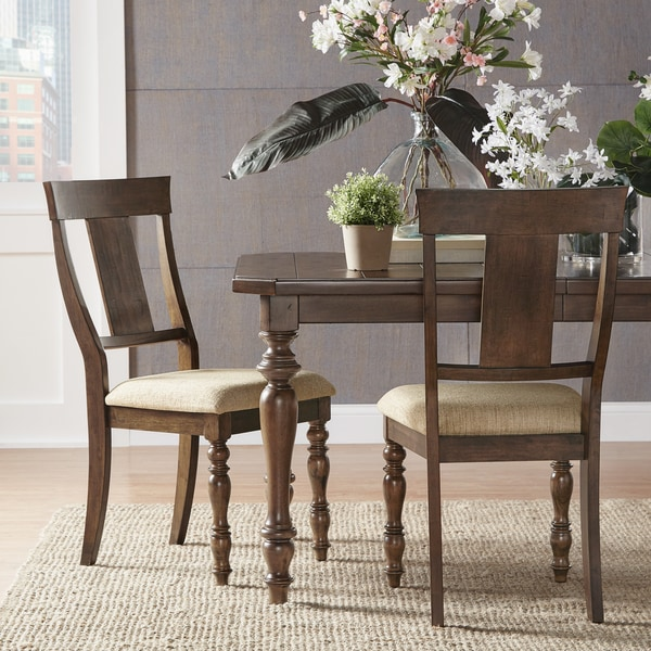 Cordelia Traditional Warm Brown Finish Side Chairs (Set of 2)