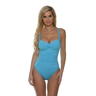 La Blanca Women's Core Solid OTS Sweetheart Mio One Piece
