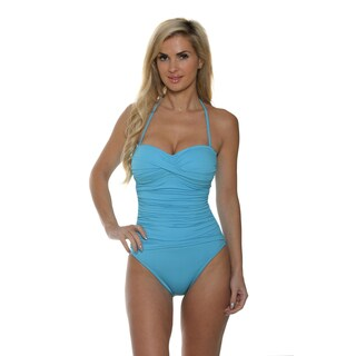 La Blanca Women's Core Solid Bandeau One Piece