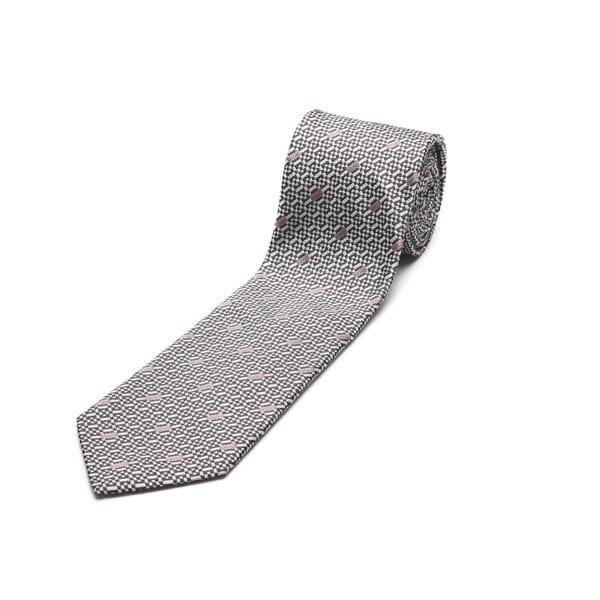 Versace Men's Grey Slim Silk Tie