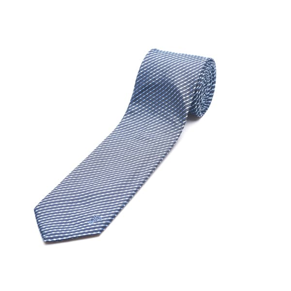 Versace Men's Blue Silk Pattern Slim Tie