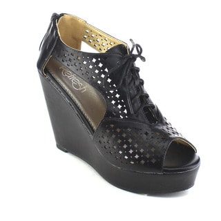 Beston AB29 Women's Perforated Wedges