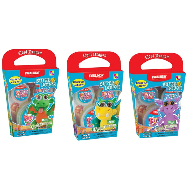 Paulinda Super Dough Dragons DIY Modeling Bundle