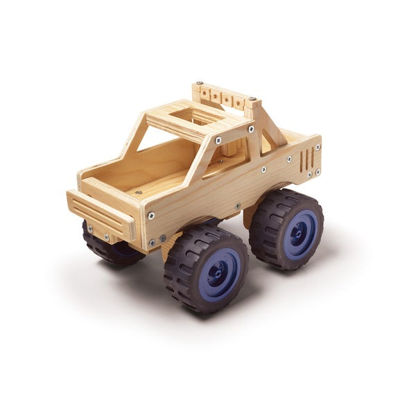 Red Tool Box DIY Wood Monster Truck Building Kit