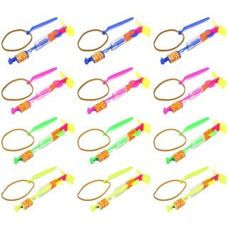 Velocity Toys LED Light-up Sling Shot Flare Arrow Party Favor Toy Flyers (Set of 12)