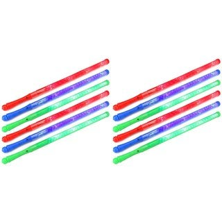 Velocity Toys Flashing LED Solid Light-up Party Favor Toy Light Sword Sabers (Set of 12)