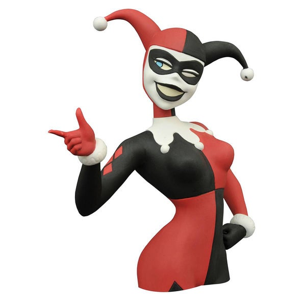 Diamond Select Toys Batman Animated Series Harley Quinn Bust Bank