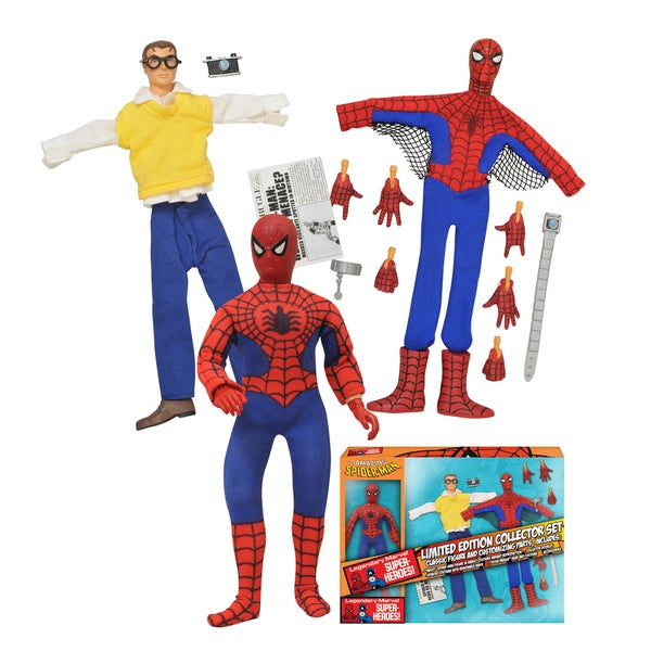 Diamond Select Toys Marvel Limited Edition Spider-Man 8-inch Retro Action Figure Set