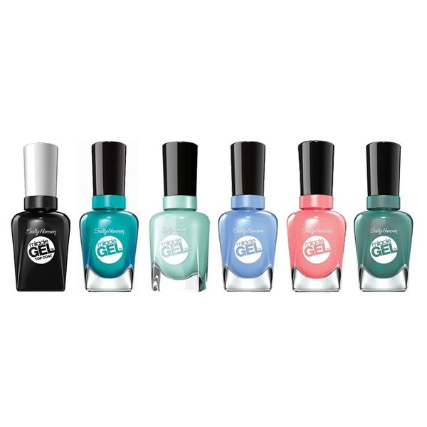 Sally Hansen Miracle Gel 5-piece Nail Polish Set Plus Top Coat