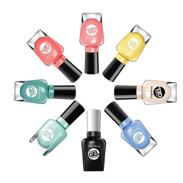 Sally Hansen Miracle Gel 7-piece Nail Polish Set Plus Top Coat