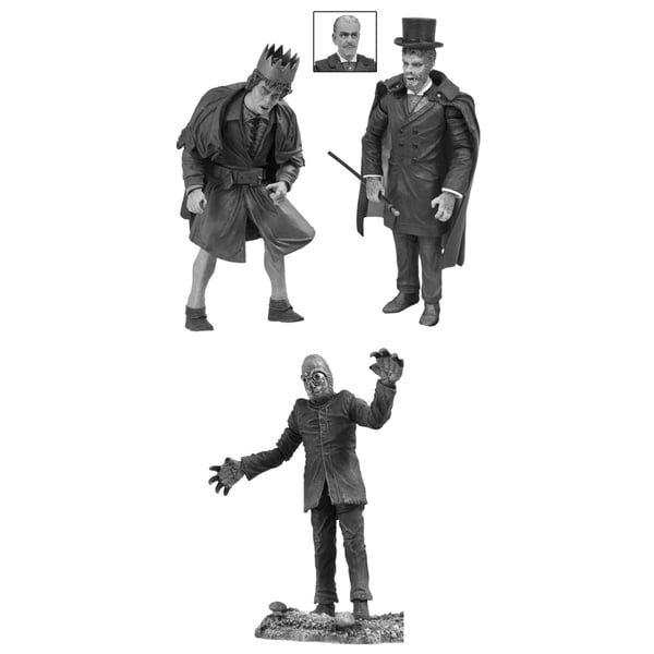 Diamond Select Toys Universal Monsters Black and White Action Figure Set #4 17320335