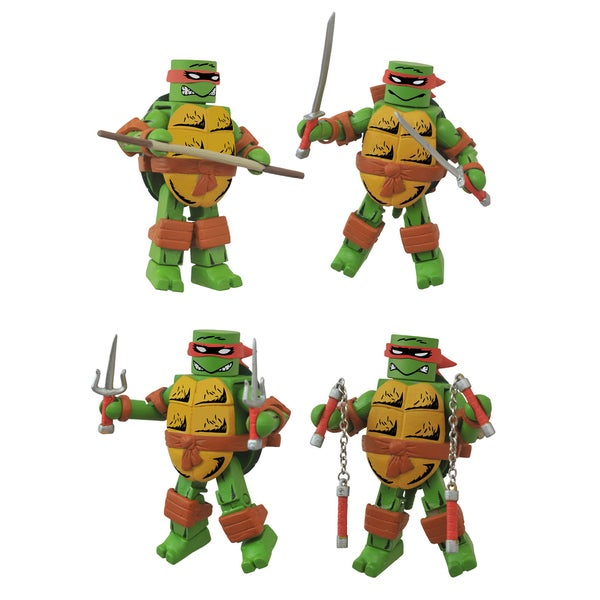 Diamond Select Toys Teenage Mutant Ninja Turtles Mirage Minimates Box Set - Leonardo Donatello Michelangelo and Raphael