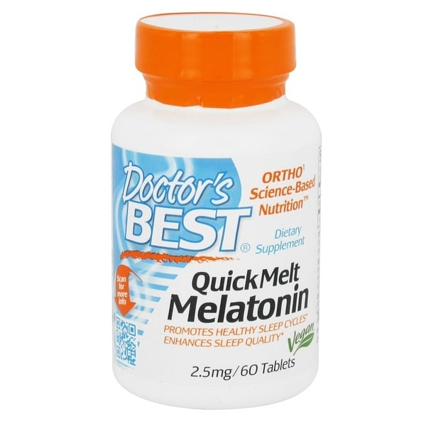 Doctor's Best QuickMelt Melatonin 2.5 mg (60 Tablets)