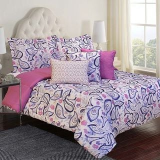 Purple Paisley 6-piece Comforter Set
