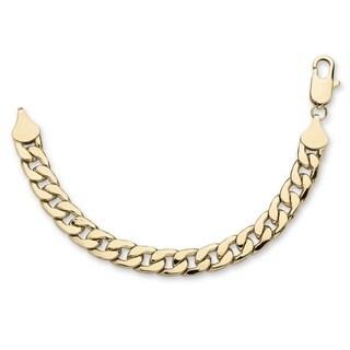 PalmBeach Goldtone Men's 15mm Curb Link Bracelet