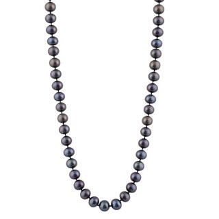 14K Gold 9-millimeter Freshwater Pearl Necklace