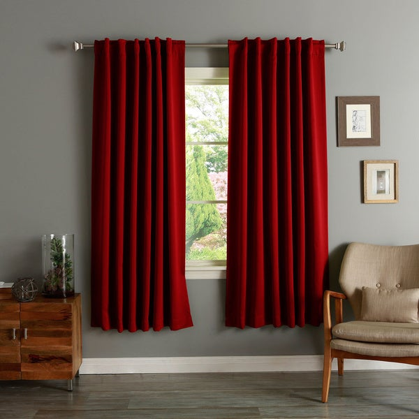 Aurora Home Insulated 72-inch Thermal Blackout Curtain Panel Pair (Pink)(As Is Item)