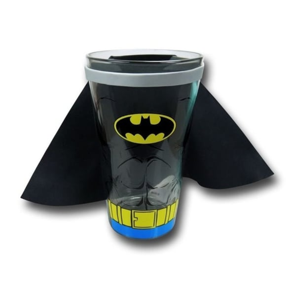 Batman Full Body Caped Crusader DC Comics Dark Knight Pint Glass With Cape